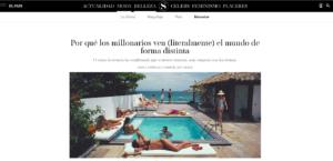 En esta imagen se muestra la portada del artículo del País redactado por la sexóloga Ana García